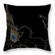 Big Ben And Boudica Throw Pillow