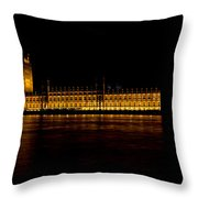 Big Ben And Houses Of Parliament Throw Pillow