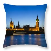 Big Ben And The Houses Of Parliament  Throw Pillow