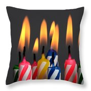 Birthday Candles Throw Pillow