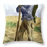 Black Civil War Soldier Throw Pillow