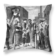Blackwells Island, 1868 Throw Pillow