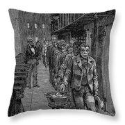 Blackwells Island, 1876 Throw Pillow