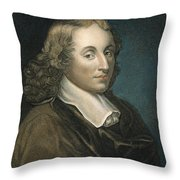 Blaise Pascal (1623-1662) Throw Pillow