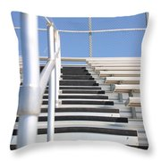 Bleachers Throw Pillow