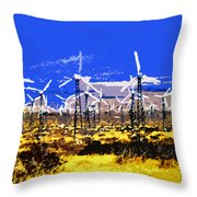 Blowing In The Wind Throw Pillow by David Lee Thompson