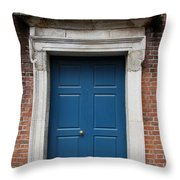 Blue Irish Door Throw Pillow