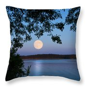 Blue Moon Of August  Throw Pillow