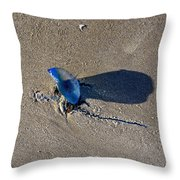 Blue On The Beach Throw Pillow