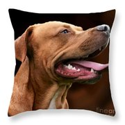 Blue The Rhodesian Throw Pillow by Isabella F Abbie Shores FRSA