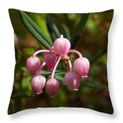 Bog-rosemary Throw Pillow