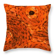 Bone Tissue Throw Pillow