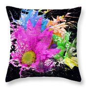 Boom Bloom Throw Pillow