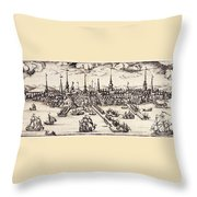 Boston, 1743 Throw Pillow