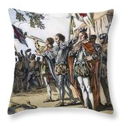 Bosworth Field, 1485 Throw Pillow