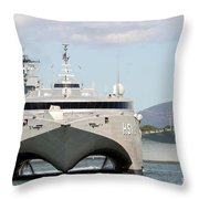 Bow On View Of The Us Navy Experimental Throw Pillow