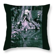 Boys By The River Throw Pillow