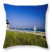 Brant Point Lighthouse Throw Pillow