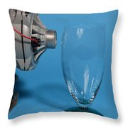Breaking Glass With Sound Throw Pillow