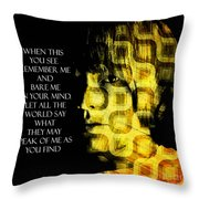 Brian Jones Throw Pillow