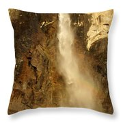 Bridal Veil Falls At Yosemite Throw Pillow