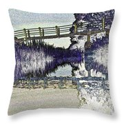 Bridge Across The River Throw Pillow