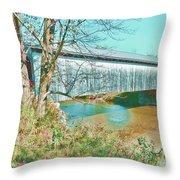 Bridge In Montgomery Throw Pillow