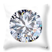 Brilliant Diamond Throw Pillow by Setsiri Silapasuwanchai