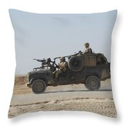 British Soldiers Patrol Afghanistan Throw Pillow