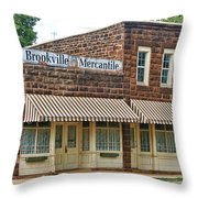 Brookville Mercantile Throw Pillow