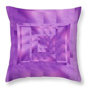 Brushed Purple Violet 11 Throw Pillow