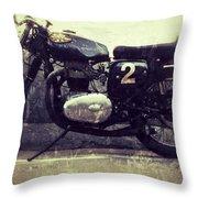 Bsa Motorbike Throw Pillow
