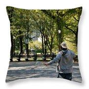 Bubble Boy Of Central Park Throw Pillow