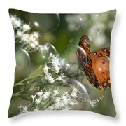 Bubble Fly Throw Pillow by Steven Richardson