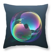 Bubble Jewel Throw Pillow