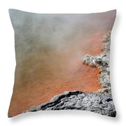 Bubbles Rising In Champagne Pool Hot Throw Pillow