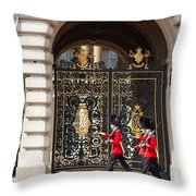 Buckingham Palace Guards Throw Pillow