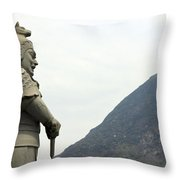 Buddhist Temple Statue Throw Pillow