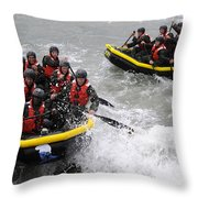 Buds Participate In Rock Portage Throw Pillow