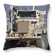 Buffalo Mine Protected Vehicle Throw Pillow