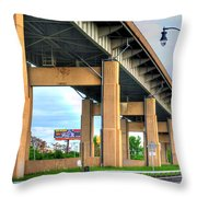 Buffalo Skyway Throw Pillow