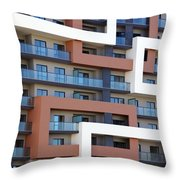 Building Facade Throw Pillow