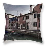 Burano - Venice - Italy Throw Pillow