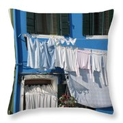 Burano. Venice Throw Pillow