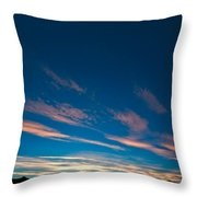 Burning Evening Sky Towards End Of Sunset Throw Pillow