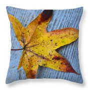 Burnished Gold On Wood Throw Pillow