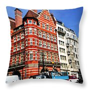 Busy Street Corner In London Throw Pillow by Elena Elisseeva