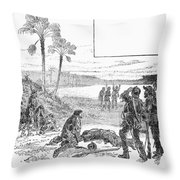 Cabeza De Vaca Throw Pillow