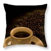Calgary, Alberta, Canada Coffee Beans Throw Pillow