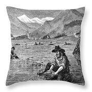 California Gold Rush Throw Pillow by Granger